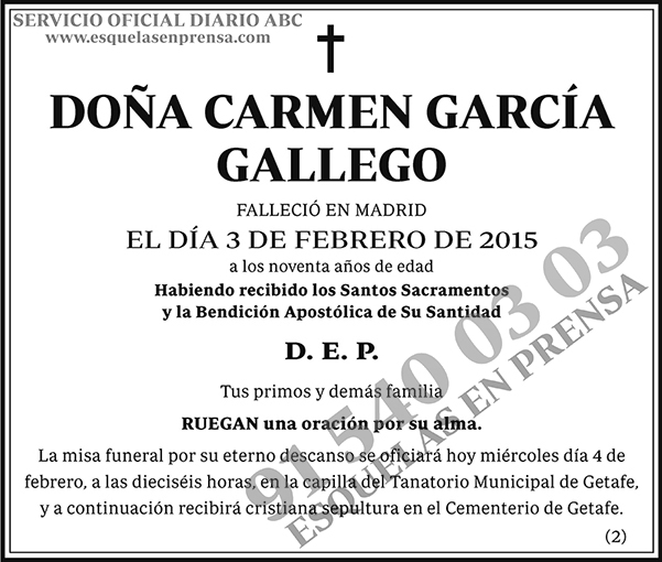 Carmen García Gallego
